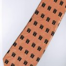 Chinese Calligraphy Fu Good Luck Fortune Orange Novelty Neck Tie