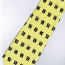 Chinese Calligraphy Fu Good Luck Fortune Yellow Novelty Neck Tie