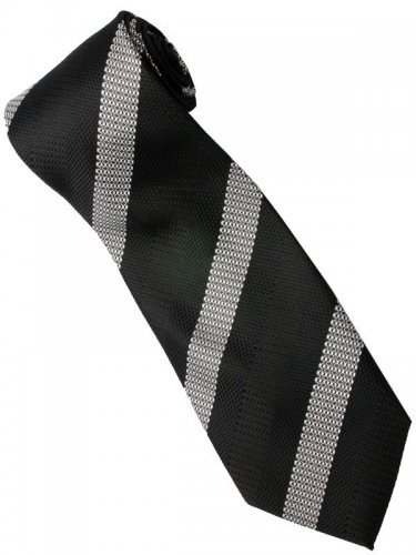 EB2 Black White Stripe Neck Tie