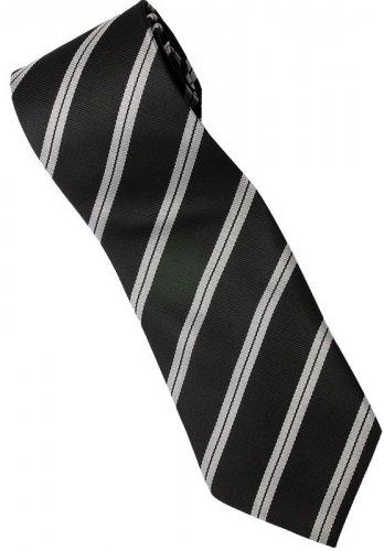 EB4 Black White Stripe Neck Tie