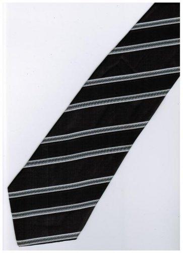 EB6 Black White Stripe Neck Tie