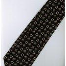 EB8 Black Gold Box Stripe Neck Tie