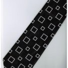 EB9 Black White Box Stripe Neck Tie