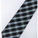 EB12 Black Blue White Stripe Neck Tie