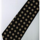 EB13 Black Gold Ball Stripe Neck Tie