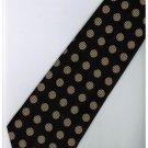 EB13 Black Gold Ball Stripe Neck Tie