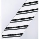 EB19 Black White Stripe Neck Tie