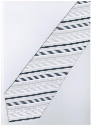 ES9 Silver White Stripe Neck Tie