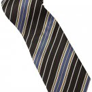 EBR3 Brown Gold Blue White Stripe Neck Tie
