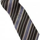 EBR3 Brown Gold Blue White Stripe Neck Tie