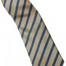 EBR5 Brown Khaki Silver Stripe Neck Tie