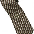 EBR9 Brown Black Snake Skin Stripe Neck Tie