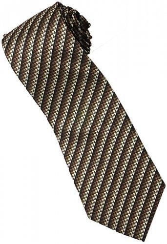EBR9 Brown Black Snake Skin Stripe Neck Tie