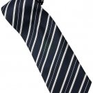 EDB3 Blue White Stripe Neck Tie