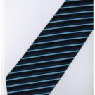 EDB6 Blue Black Blinking Stripe Neck Tie