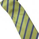 EG1 Apple Green Blue White Stripe Neck Tie