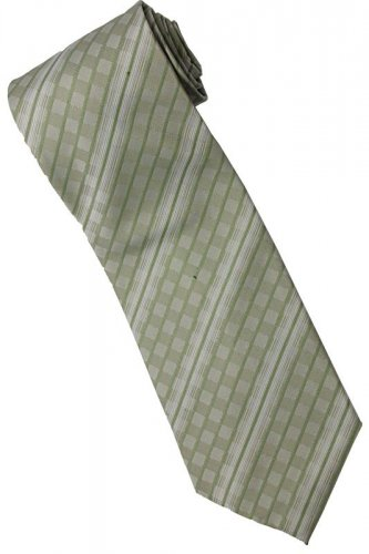 EG4 Apple Green White Stripe Neck Tie