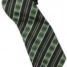 EG9 Green Yellow Black White Stripe Neck Tie