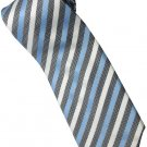 ELB6 Sky Blue Black White Stripe Neck Tie