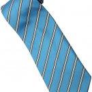 ELB5 Sky Blue Black White Stripe Neck Tie