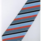 ELB10 Blue Orange White Stripe Neck Tie