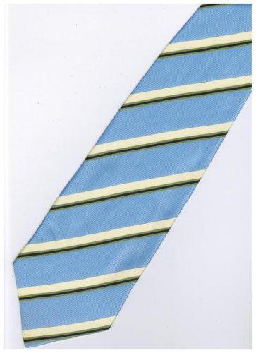 ELB14 Sky Blue Yellow Green Purple Stripe Neck Tie