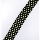 Yellow Love Black Slim Stripe Neck Tie
