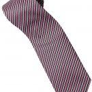 EPP06 Purple Black White Stripe Neck Tie