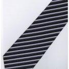 EPP09 Purple Black Stripe Neck Tie
