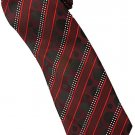 ER5 Red Black White Stripe Neck Tie