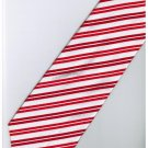 ER9 Red White Blinking Stripe Neck Tie