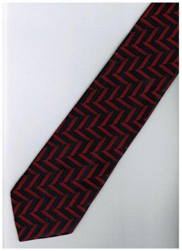 ER13 Red Black Stripe Neck Tie