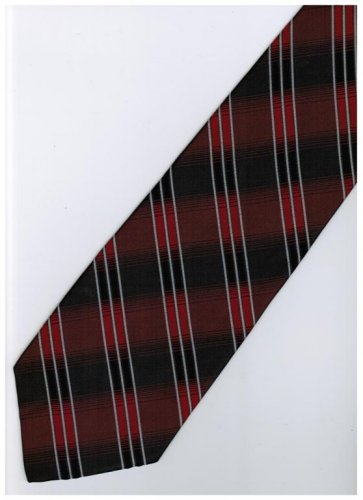 ER16 Red Black White Stripe Neck Tie