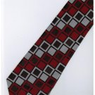 ER18 Red Silver Black Box Stripe Neck Tie
