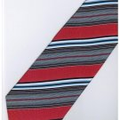 ER22 Red Blue Black White Stripe Neck Tie