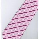 EPK04 Pink Purple White Blinking Stripe Neck Tie