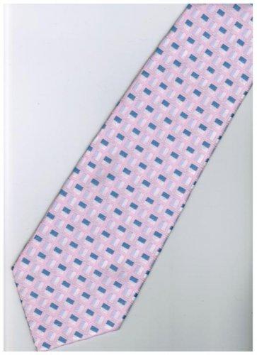 EPK06 Pink White Blue Stripe Neck Tie
