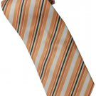 EO1 Orange White Yellow Black Stripe Neck Tie