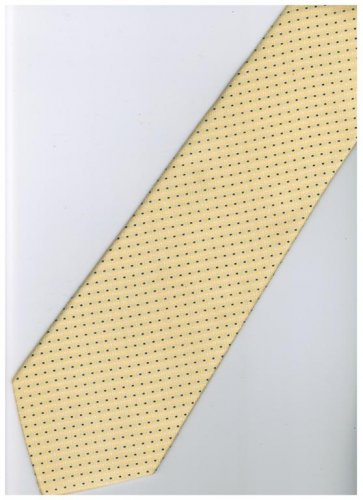 EY2 Yellow Black White Stripe Neck Tie