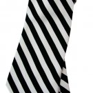 Black White Zebra Stripe Neck Tie