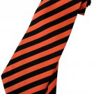 Red Black Stripe Neck Tie