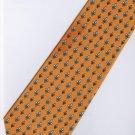 Yellow Black White Stripe Neck Tie