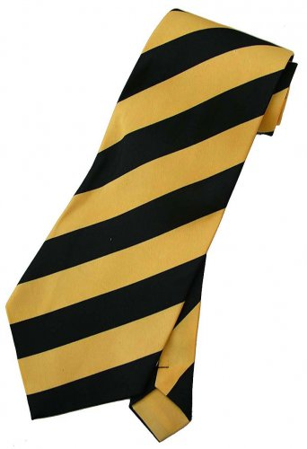 Yellow Black Stripe Neck Tie