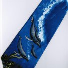 Fish Dolphin Marine Life Coral Fancy Novelty Neck Tie 2