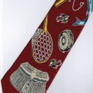 Fish Fishing Equipment Marine Life Fancy Novelty Neck Tie