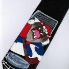 Tasmanian Devil Taz Looney Tunes Goalkeeper Cartoon Fancy Novelty Neck Tie
