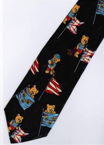 Little Bear Cartoon Fancy Novelty Neck Tie