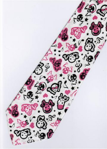 Musical Skull Emo Punk Fancy Novelty Neck Tie