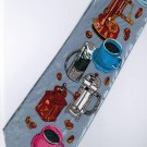 Coffee Maker SILVER Fancy Novelty Neck Tie