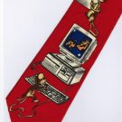 Computer Mouse Occupation RED Fancy Novelty Neck Tie